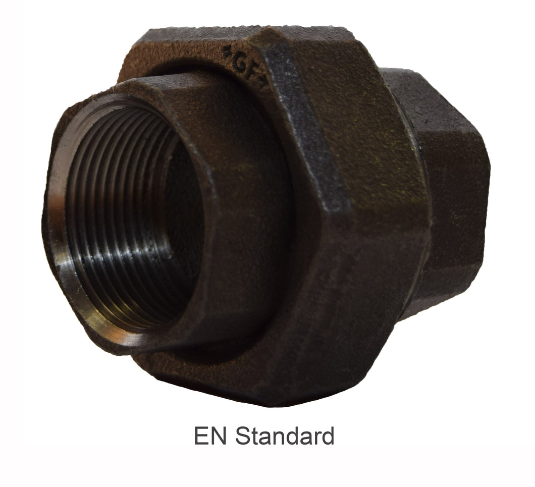 Fig 340 - MI Fittings Black Union Conical
