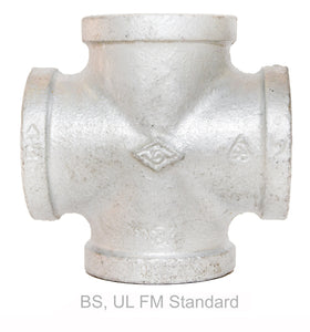 Fig 180 - MI Fittings Galvanized Cross Equal