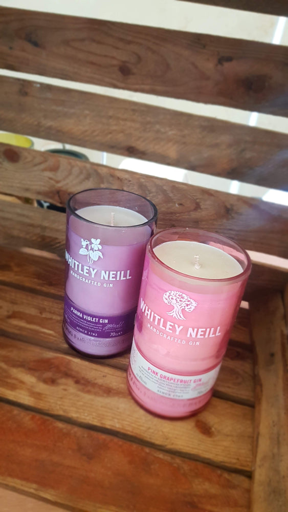 Whitley Parma Violet Gin Bottle Candle