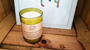French Pear and Ginger Wine Bottle Candle