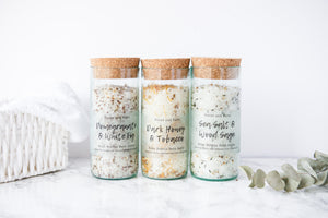 Load image into Gallery viewer, Sea Salt and Wood Sage - Wine Bottle Bath Salts 200g