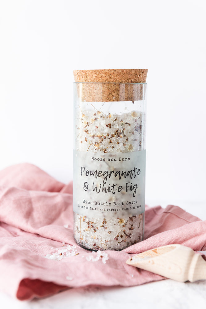 Pomegranate and White Fig - Wine Bottle Bath Salts 200g
