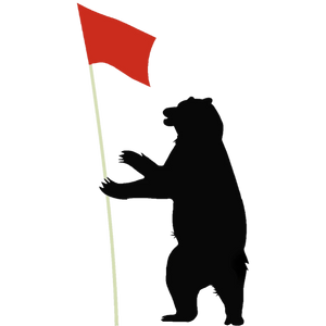California bear golfing #bearfootgolf