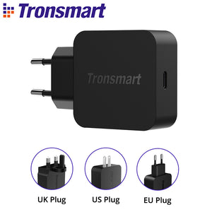 Tronsmart Caricabatterie USB C da Muro 18W, Rapida Carica Caricatore con Power Delivery 3.0 e QC 3.0 e QC 4.0, per iPhone, iPad, Huawei, Samsung, Tablet ECC, Accessori Cellulari