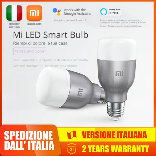 Xiaomi Smart Light Bulb RBG Colorful bluetooth Led Wifi Alexa Google Assistant, Lampada, Lampadario, Accessori Casa