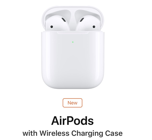 APPLE AIRPODS 2A GENERAZIONE CUFFIE SENZA FILI CON WIRELESS CHARGING CASE