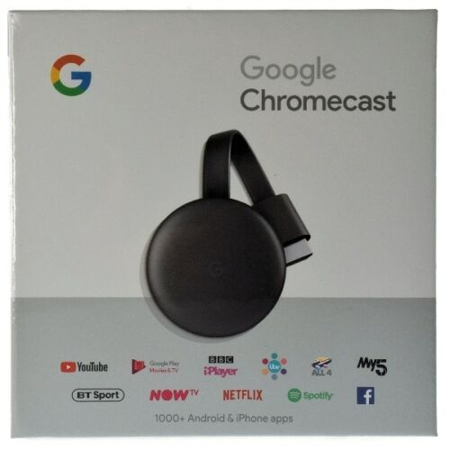 GOOGLE CHROMECAST VIDEO 3 HDMI STREAMING VIDEO MEDIA PLAYER NUOVO MODELLO 2019, Elettronica