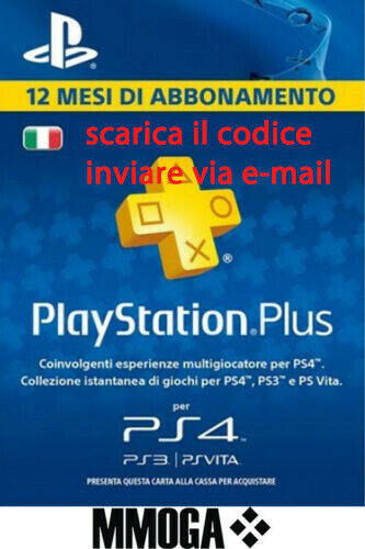 PLAYSTATION PLUS Abbonamento 12 Mesi 365 GIORNI 1 anno PSN PS4 PS3 PS Vita - IT