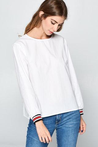 Banded Sleeve Top