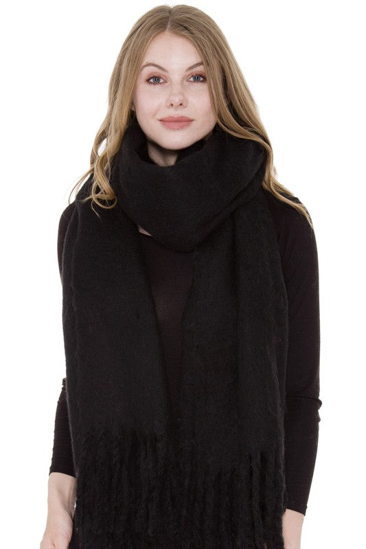 Winter Scarf with Fringe