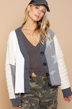 Oversized Button Front Cardigan