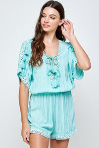 Lace Embroidery Romper