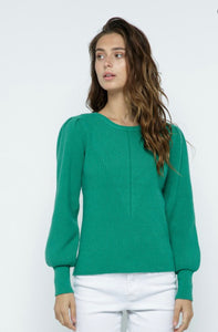 Shirred Shoulder Sweater