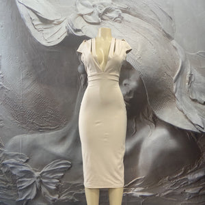 ACCRUE ( CREAM) DRESS - Binta Sagale Shop