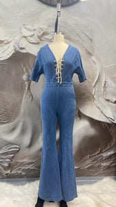 Baby Denim Lace up Jumpsuit - Binta Sagale Shop