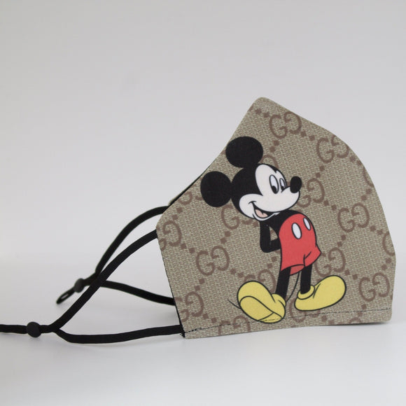 Designer Micky Mouse Face Mask - Binta Sagale Shop