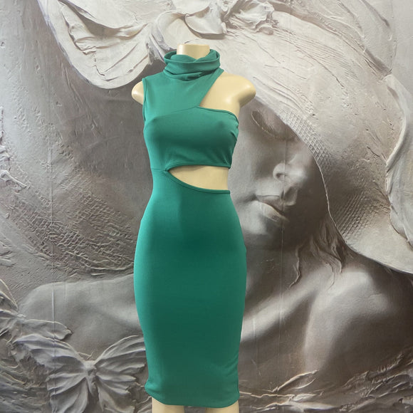 EMERALD CUT-OUT DRESS - Binta Sagale Shop