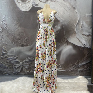 Floral printed Maxi Dress - Binta Sagale Shop