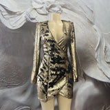 SEQUINED GOLD & BLACK DRESS - Binta Sagale Shop