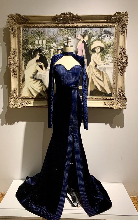The Mad Dress - Leppi + Velvet Navy Blue - Binta Sagale Shop