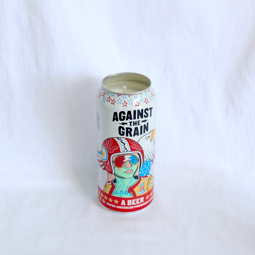 Against The Grain Super American Lager Candle