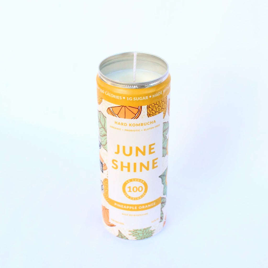 Juneshine Pineapple Orange Hard Kombucha Candle