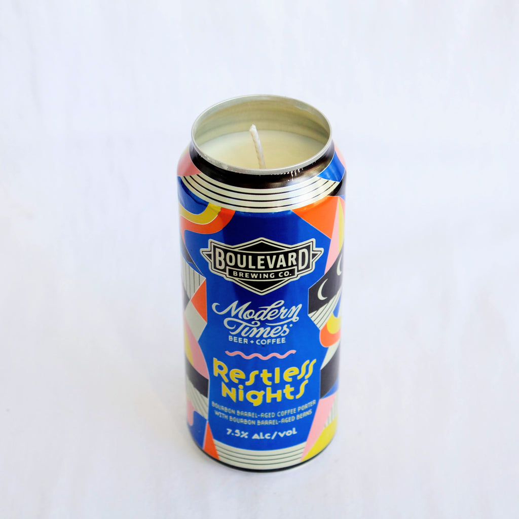 Boulevard Brewing x Modern Times Restless Nights Candle