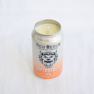 New Realm Brewing Hoptropolis IPA Candle