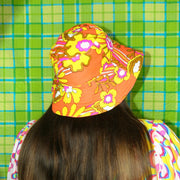 The LOLA Hat in Neon Retro Floral