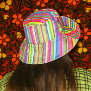 The LOLA hat in Rainbow Stripe