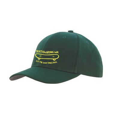 Skateboarding WA Cap Green/Yellow