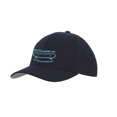 Skateboarding WA Cap Black/Light Blue