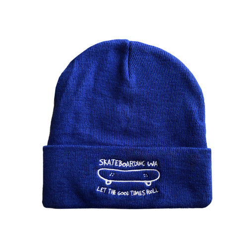 Skateboarding WA Beanie Royal Blue