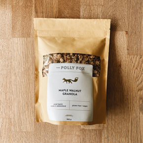 Polly Fox Gluten-Free Vegan Maple Walnut Granola 300g
