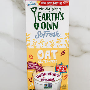 Earth's Own Original Unsweetened Gluten Free Oat Milk 946ml
