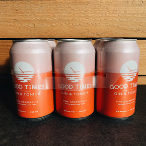 Good Times Pink Grapefruit Gin + Tonics 6pk*DELIVERY ONLY