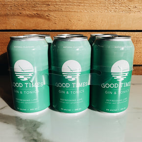 Good Times Refreshing Lime Gin + Tonics 6pk*DELIVERY ONLY