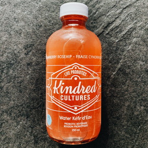 Kindred Cultures Strawberry Rosehip Water Kefir 250ml