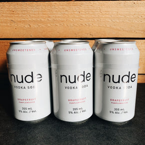 Nude Grapefruit Vodka Soda 6pk*DELIVERY ONLY