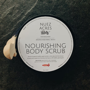 Nuez Acres Lemon + Lavender Nourishing Body Scrub 120ml