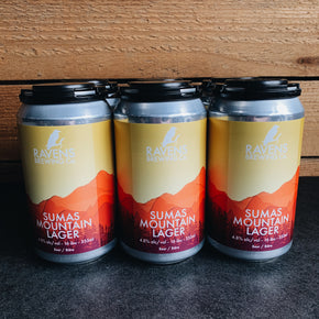 Ravens Brewing Sumas Mountain Lager 4pk *DELIVERY ONLY
