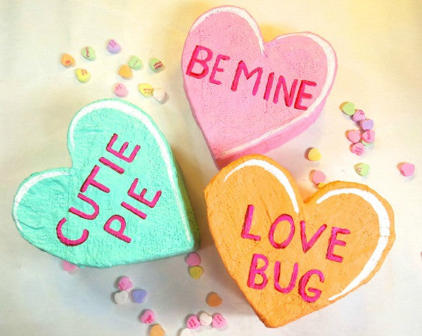 Candy Heart Sculptures with Rigid Wrap