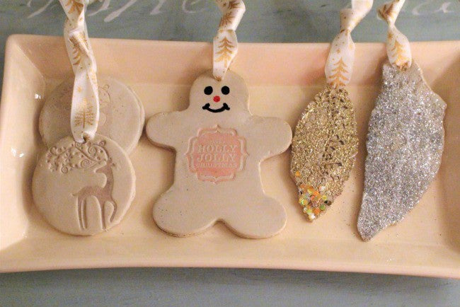 Air Dry Clay Gift Tag Ornaments