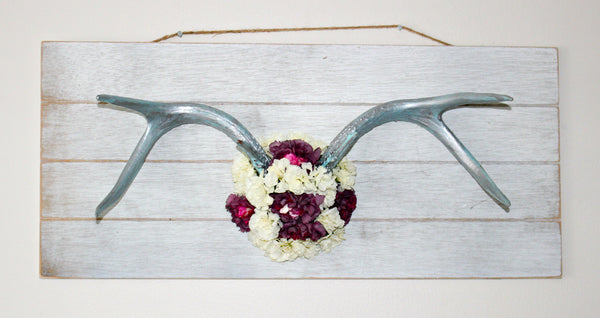 Dried Flowers Antler Art