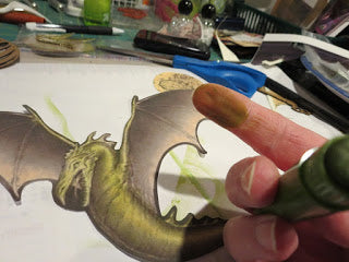 dragon image for plaster cloth tutorial