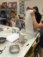 lesson plan with plaster cloth for canopic jars