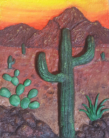 Art teacher Charlene Lear submitted this Relief Landscape project as part of the <em>ACTÍVA</em> Products Art Teacher Mystery Box contest.  See her lesson plan here!