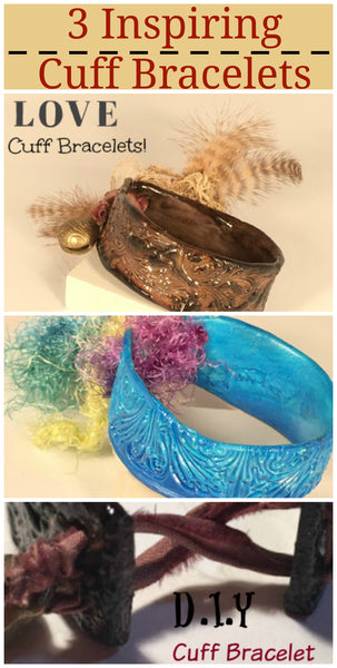 how to make a cuff bracelet with air drying clay