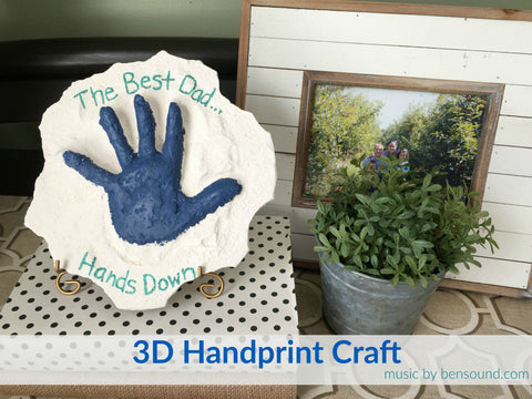 3D Handprint Craft with Instamold and Permastone
