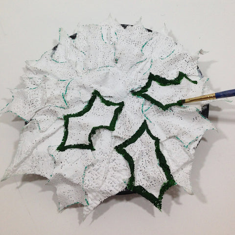 plaster cloth tutorial holly wreath